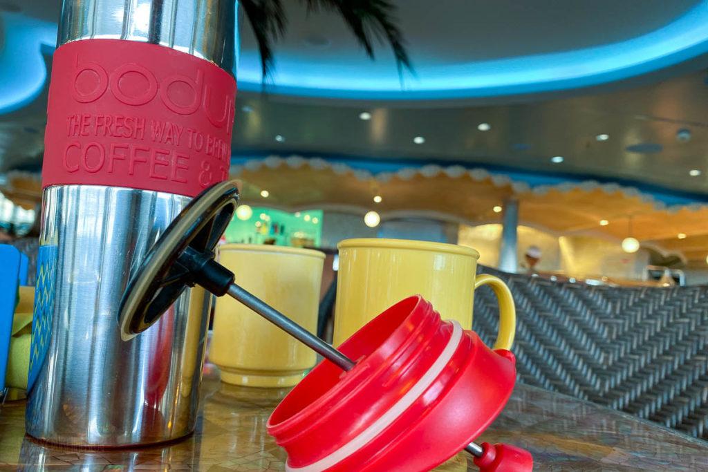 Cabanas Breakfast Bodum Travel Press