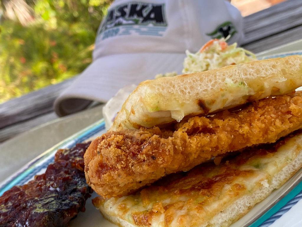 Castaway Cay Cookies BBQ Foccocia Spicy Chicken Sandwich