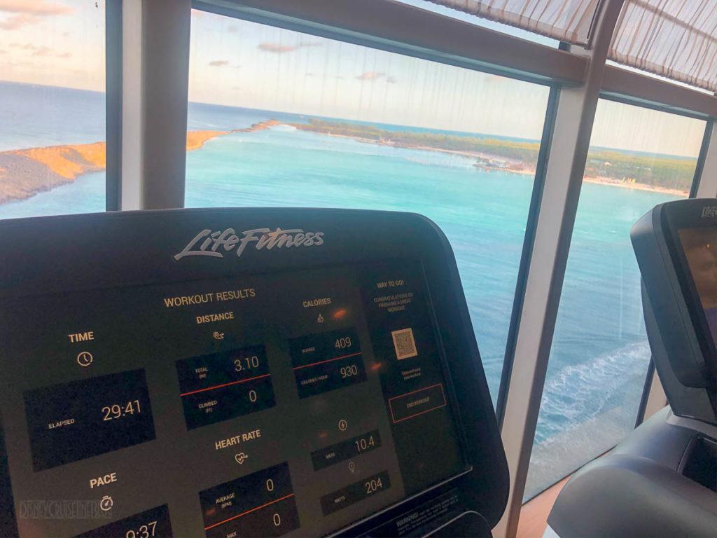Disney Dream Gym 5k Overlooking Castaway Cay