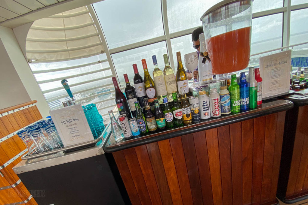 Dream Pool Deck Bar Selections
