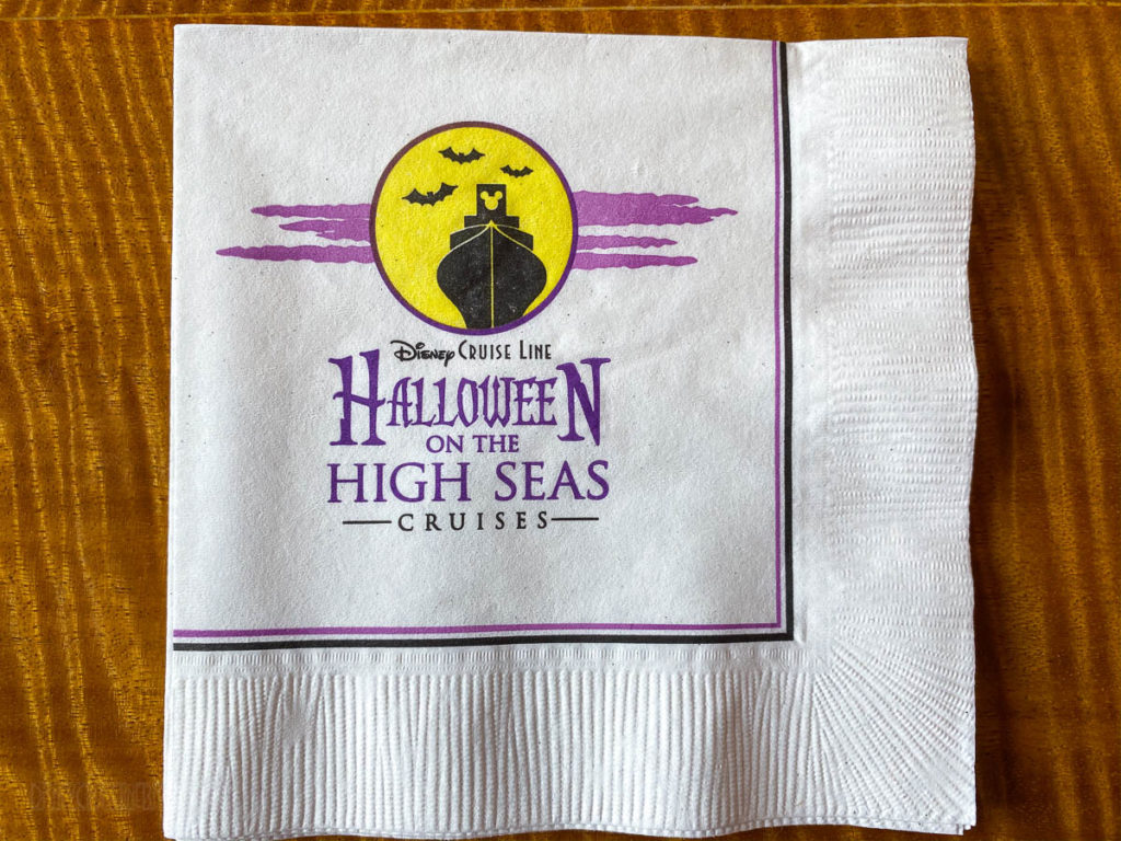 Vista Cafe Halloween On The High Seas Napkin