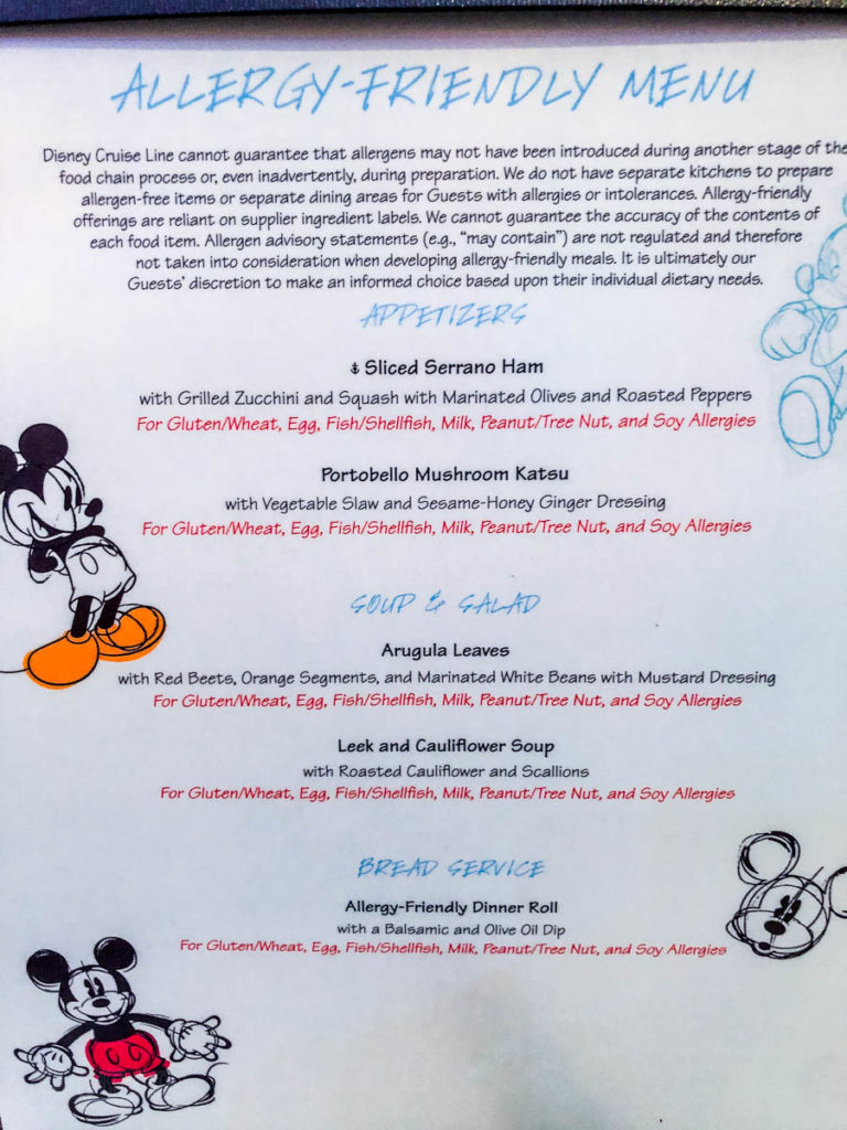 Animator's Palate Allergy Menu Dream October 2019