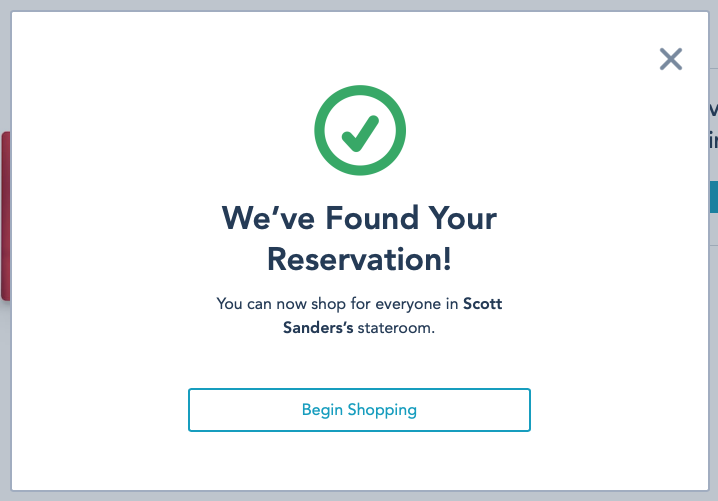 DCL Onboard Gifts Find Reservation Found