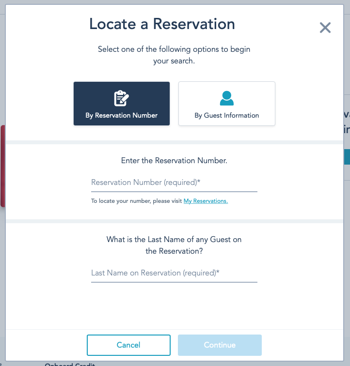 DCL Onboard Gifts Find Reservation Number