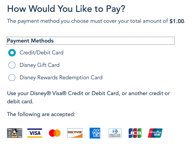 DCL Onboard Gifts Payment Options