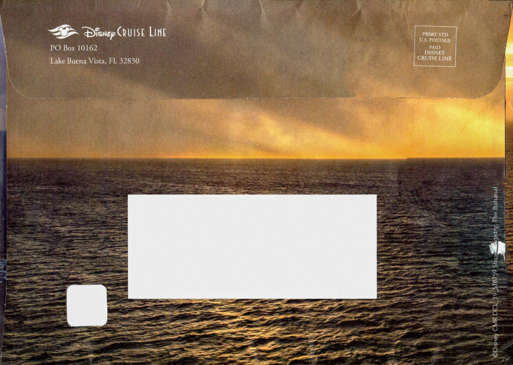 DCL Pre Arrival Booklet Magic Envelope