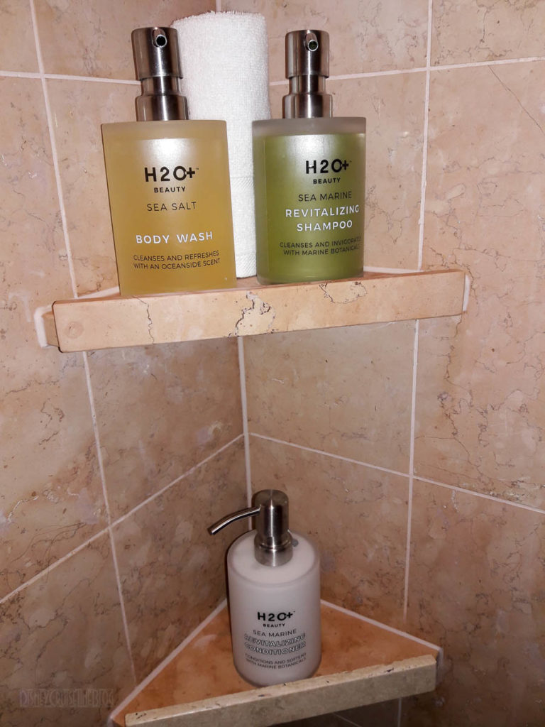 Disney Dream Stateroom 12514 H2O+ Shower Pump Bottles