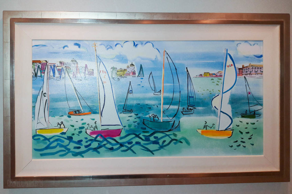 Disney Dream Stateroom 12514 Sailboat Artwork