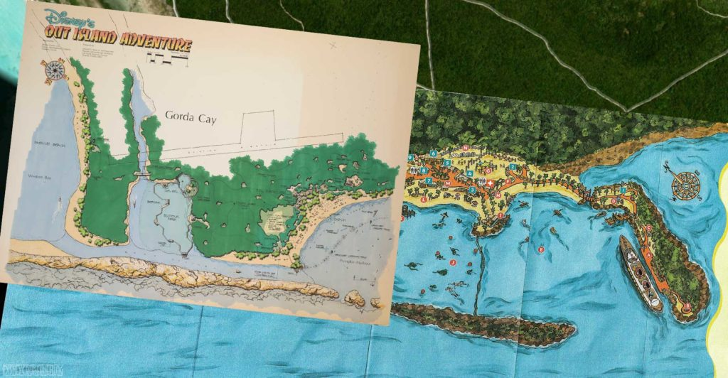 WDI Out Island Adventure Castaway Cay Map Composite