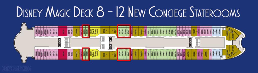 Disney Magic New Deck 8 Concierge Staterooms 2020
