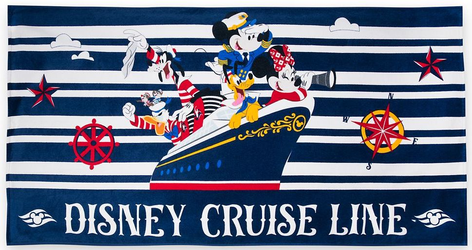 ShopDisney DCL Captain Mickey Mouse And Friends Beach Towel