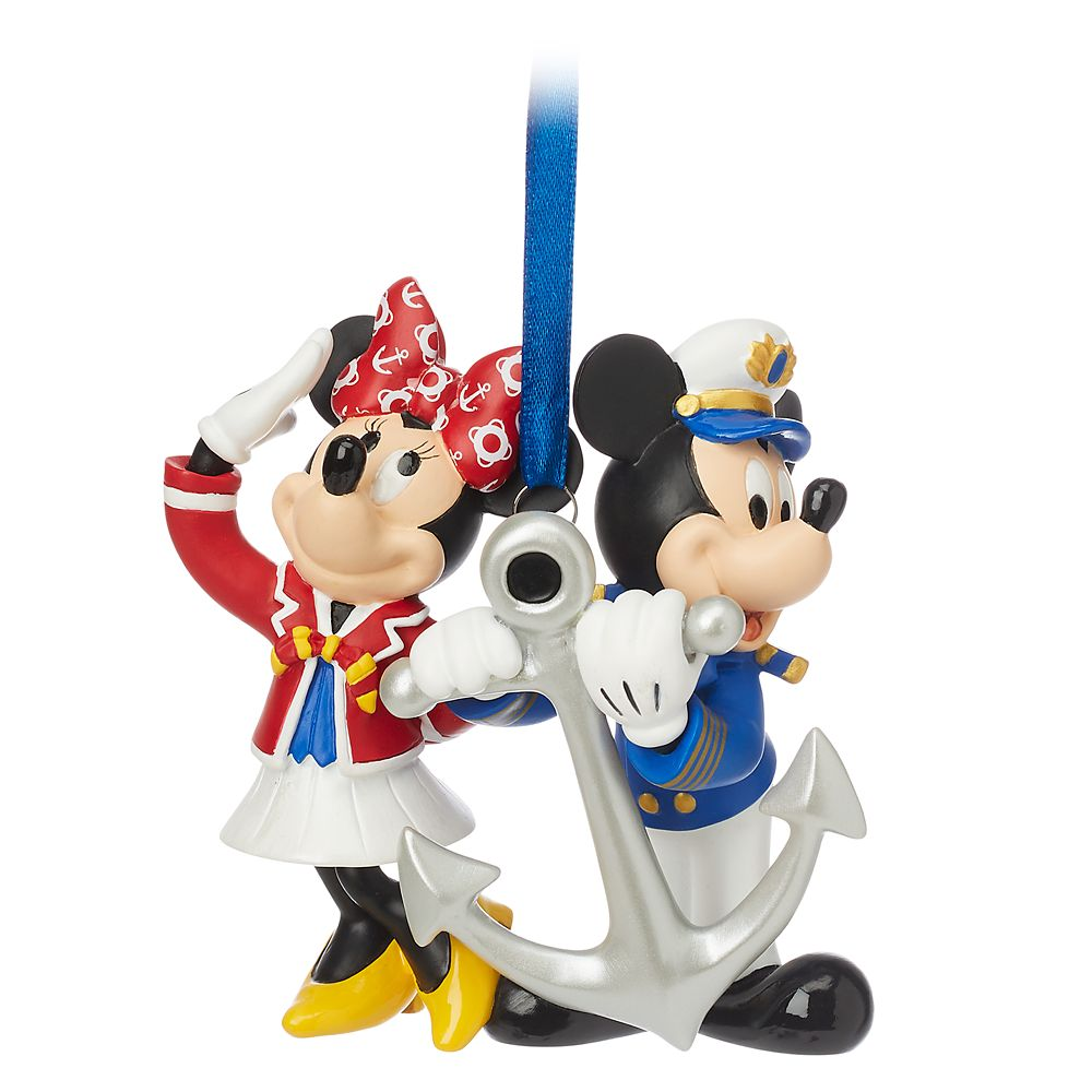ShopDisney DCL Captain Mickey And Minnie Mouse Figural Ornament