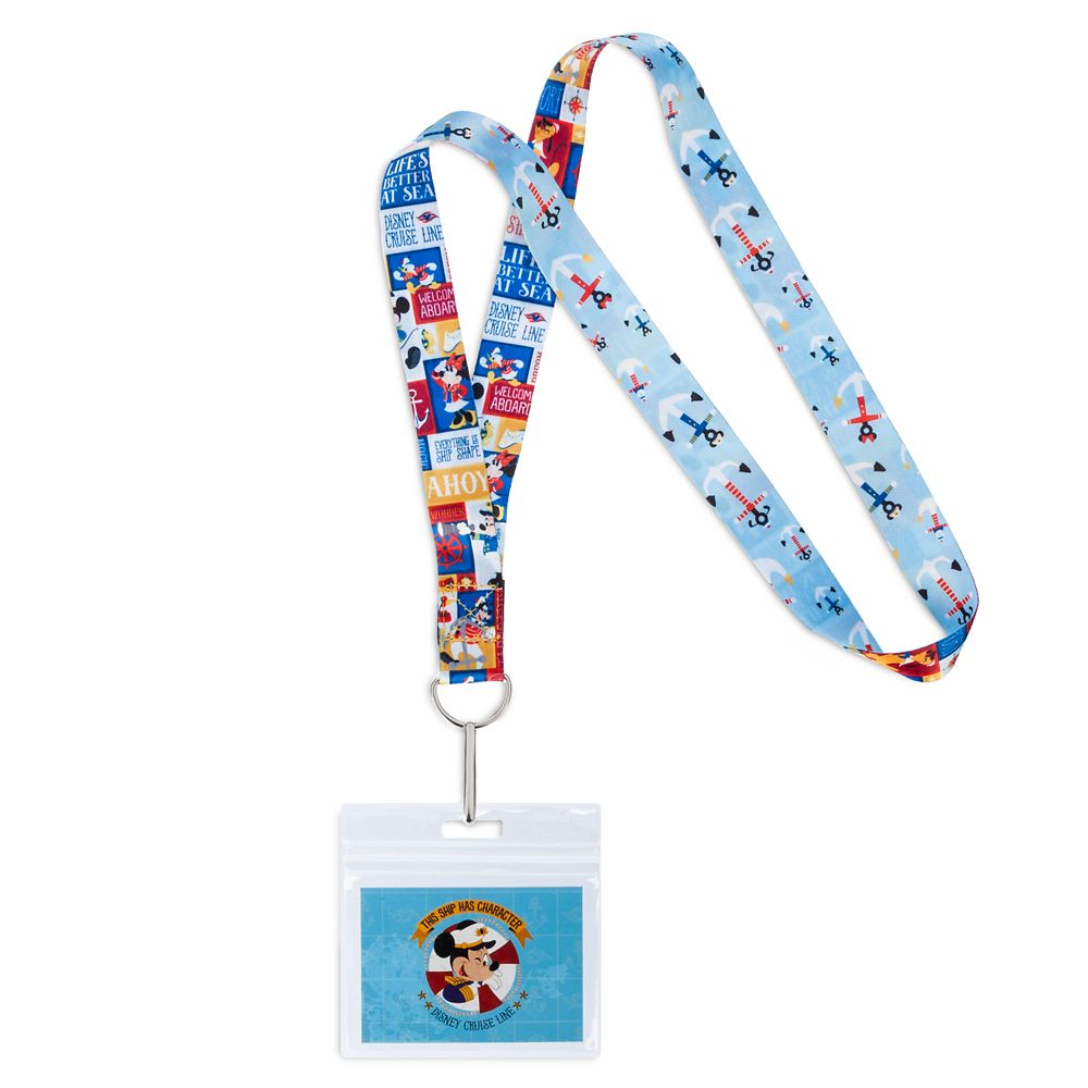 ShopDisney DCL Mickey Mouse And Friends Lanyard