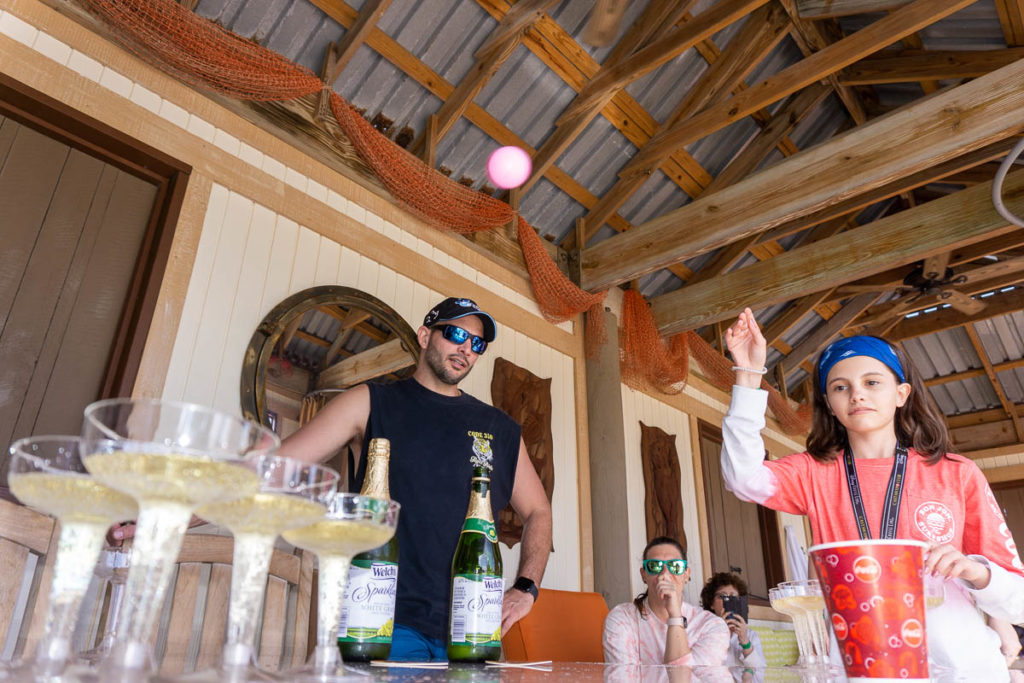Castaway Cay Grand Cabana 21 Sparkling Grape Juice Prosecco Pong