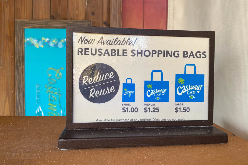 Castaway Cay Reusable Shopping Bag Pricing
