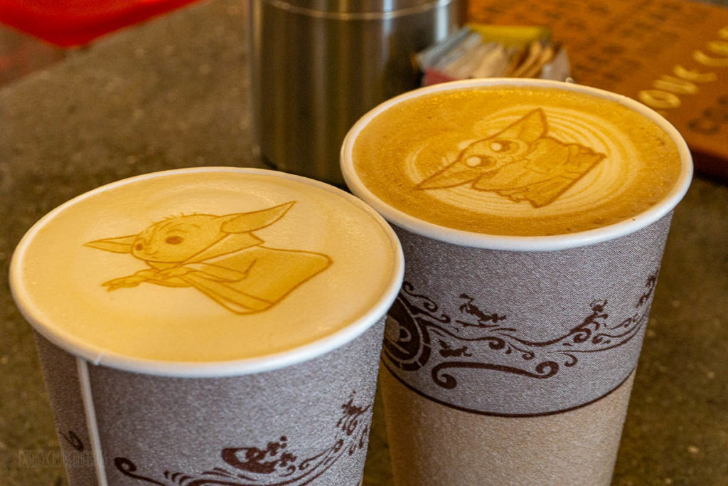 Cove Cafe Baby Yoda The Child Latte Art