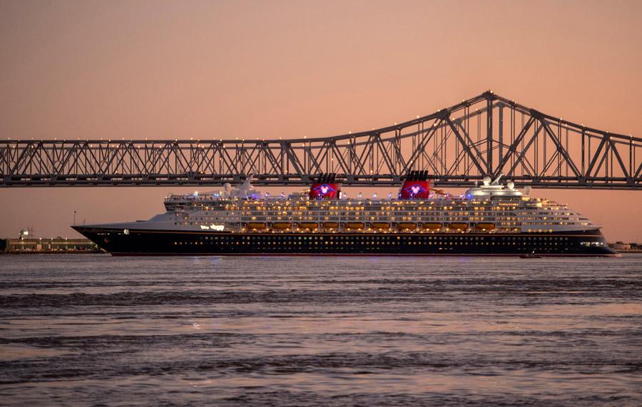 DCL Disney Wonder New Orleans Crescent City Connection Bridge