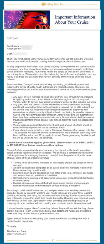 DCL Email Coronavirus 20200227
