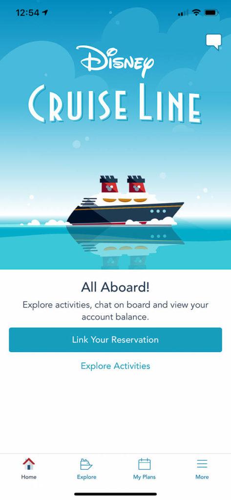 DCL Navigator App Link Reservation