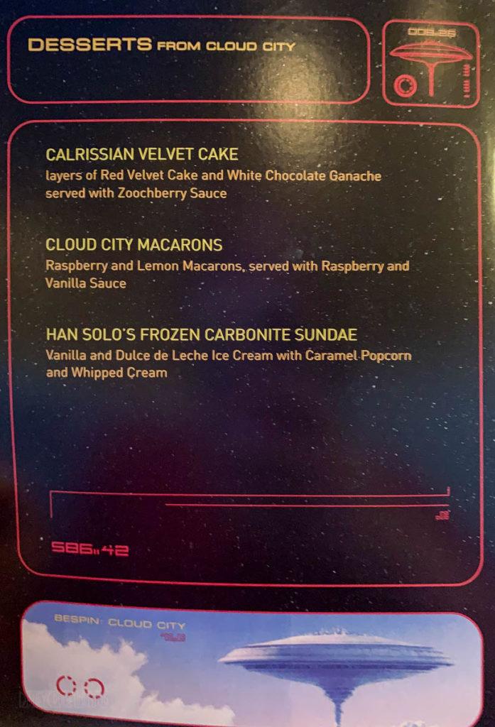 DCL SWDAS Menu 2020 Desserts