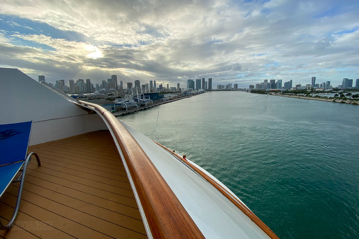 Disney Magic Deck 8 Aft Veranda Miami Skyline