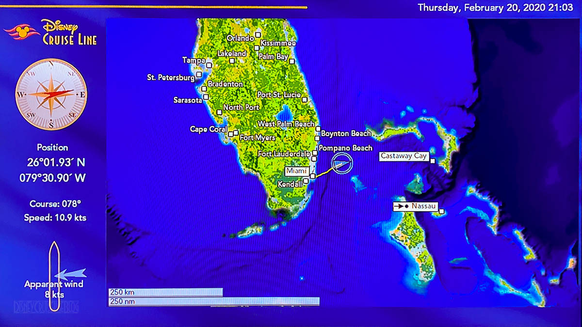 Disney Magic Staterrom Map Day 1 Miami 20200220