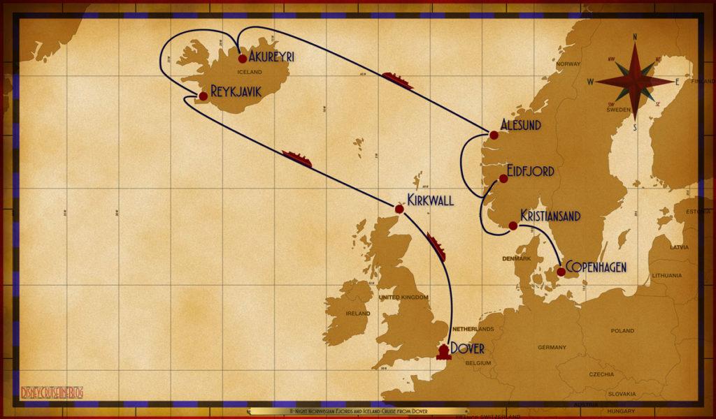 Map Magic 11 Night Norwegian Fjords Iceland DVR SEA KIR SEA REY REY AKU SEA AES EDF KRS COP