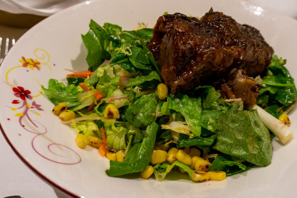 Pirate Dinner Braised Barbecue Beef Rib Salad