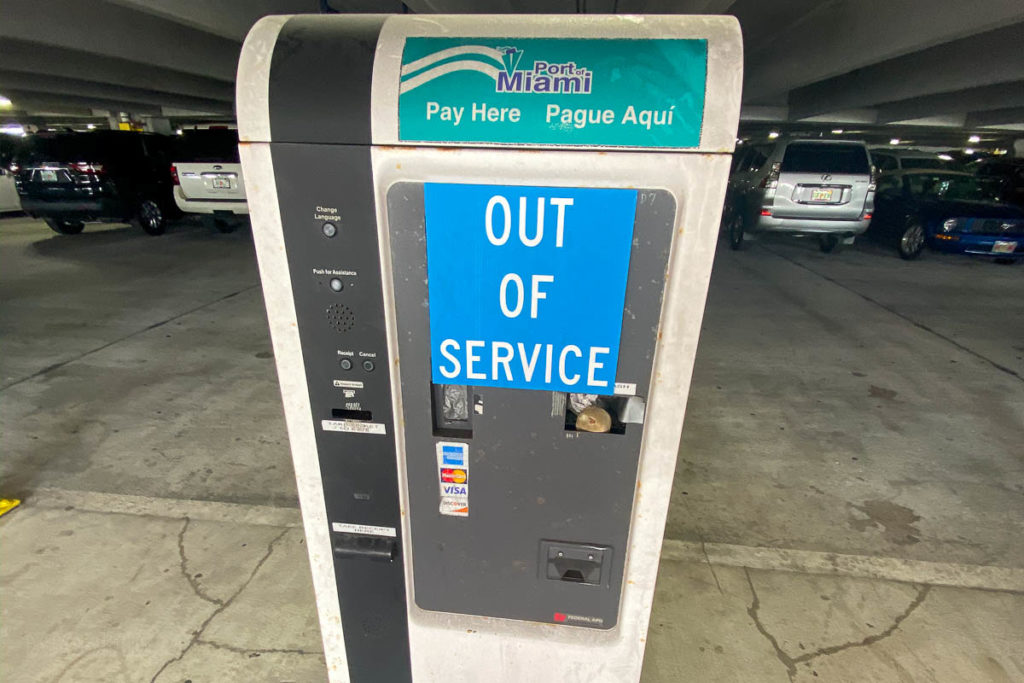PortMiami Parking Pay Kiosk