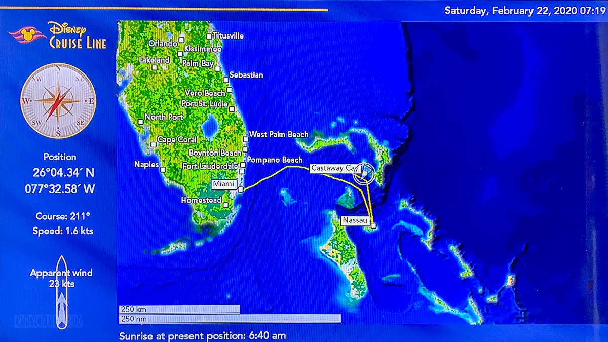 Stateroom TV Map Day 3 Magic Castaway Cay 20200222