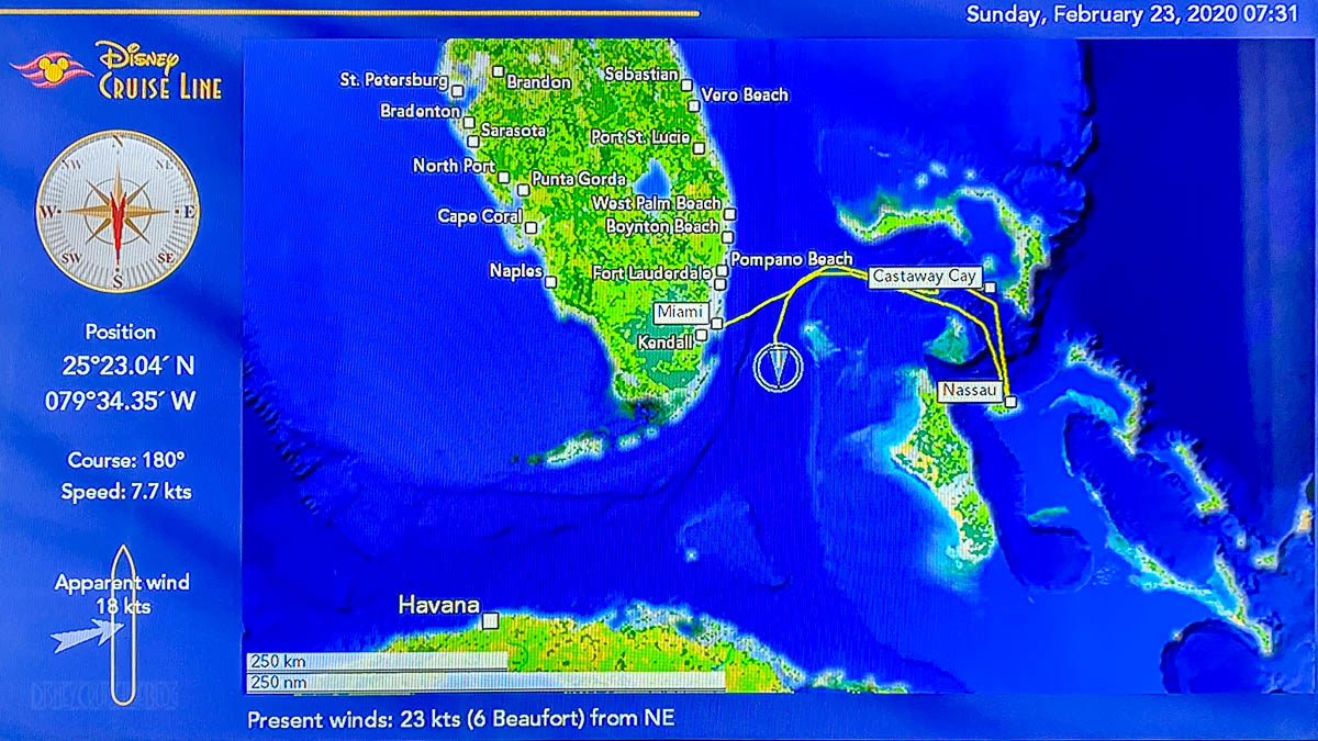 Stateroom TV Map Day 4 Sea 20200225