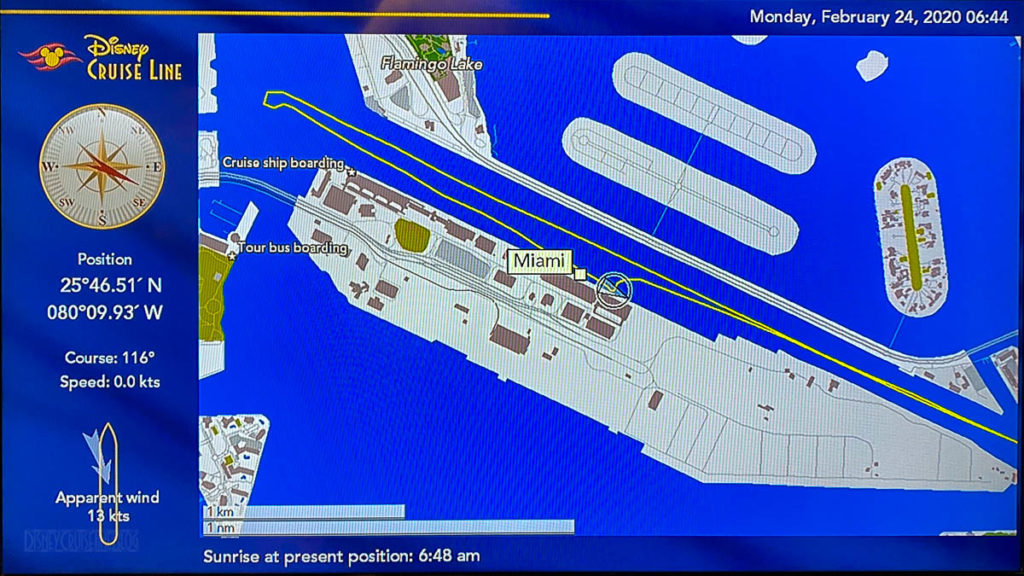 Stateroom TV Map PortMiami Debarkation 20200224