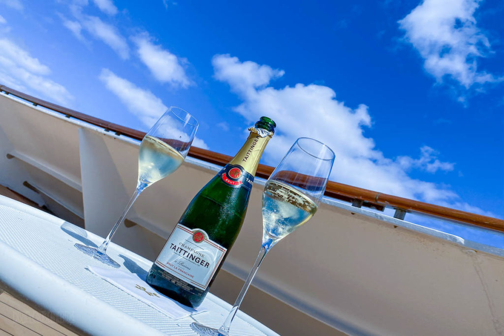 Verandah Taittinger At Sea
