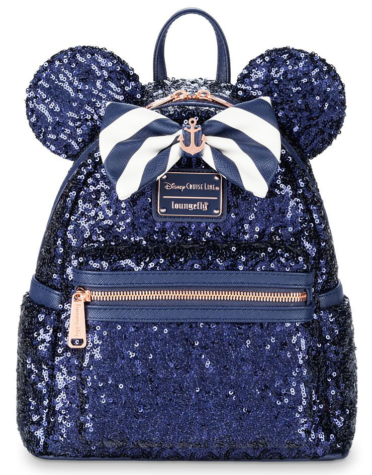 ShopDisney Loungefly Minnie Mouse Sequnted Mini Backpack