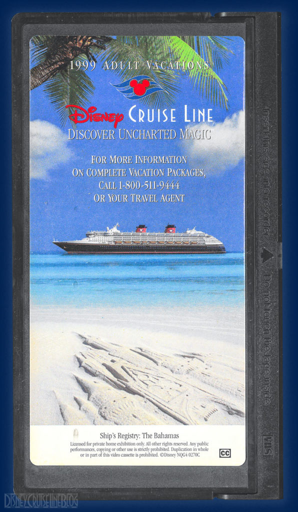 DCL 1999 Adult Vacations Promotional Video VHS Tape