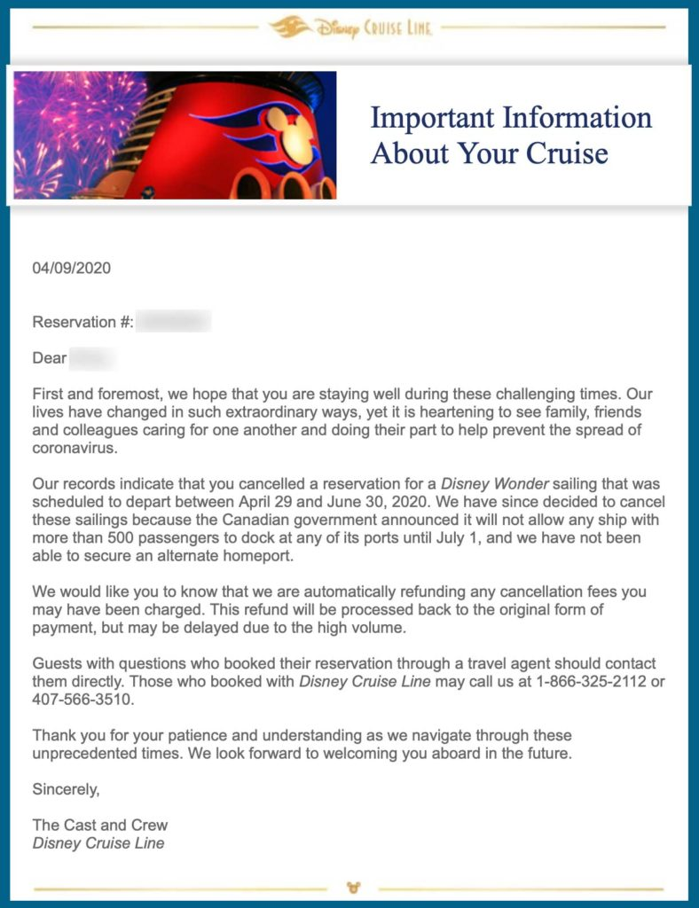 DCL Guest Email Wonder Cancelations 20200409