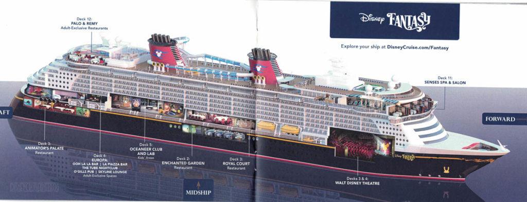 DCL Pre Arrival Booklet Fantasy 4 5 Ship Cutaway
