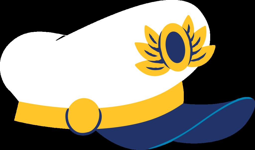 DCL Stateroom Door Decorating Captain Hat