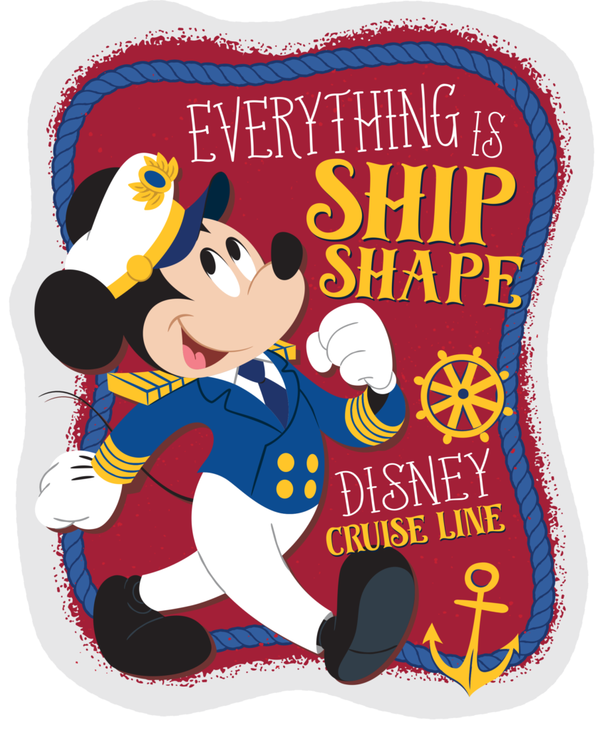 DCL Stateroom Door Decorating Captain Mickey Ship Shape