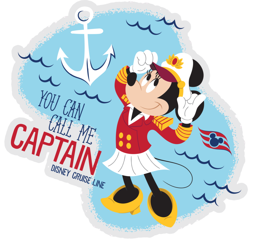 DCL Stateroom Door Decorating Captain Minnie Call Me Captain