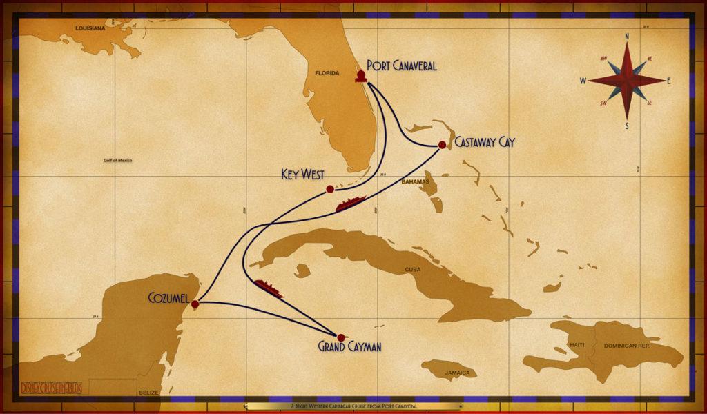Map Magic 7 Night Western Caribbean PCV EYW SEA GEC CZM SEA GOC