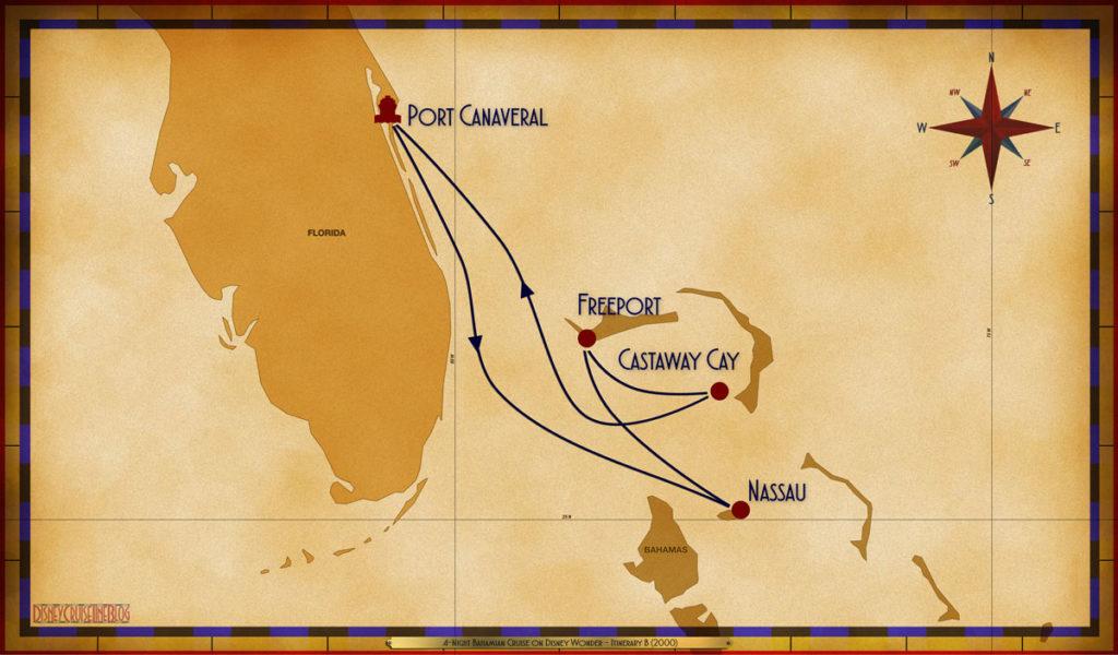 Map Wonder 4 Night Bahamian PCV NAS FPO GOC