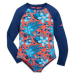 ShopDisney DCL Minnie Mouse Rash Guard Swimsuite Girls