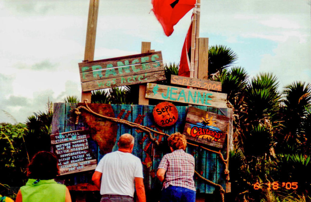 Castaway Cay Hurricane Frances Jeanne Sign