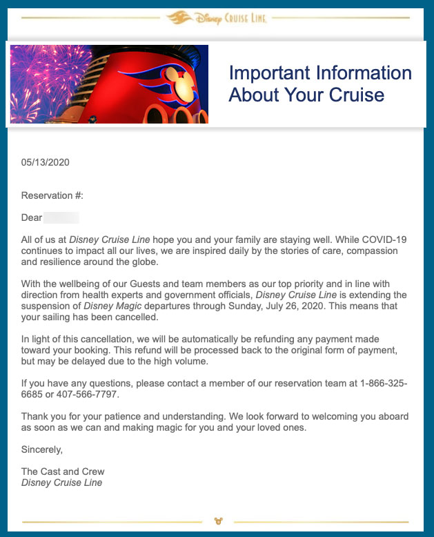 DCL Guest Email Cancelled Cruises 20200513 1