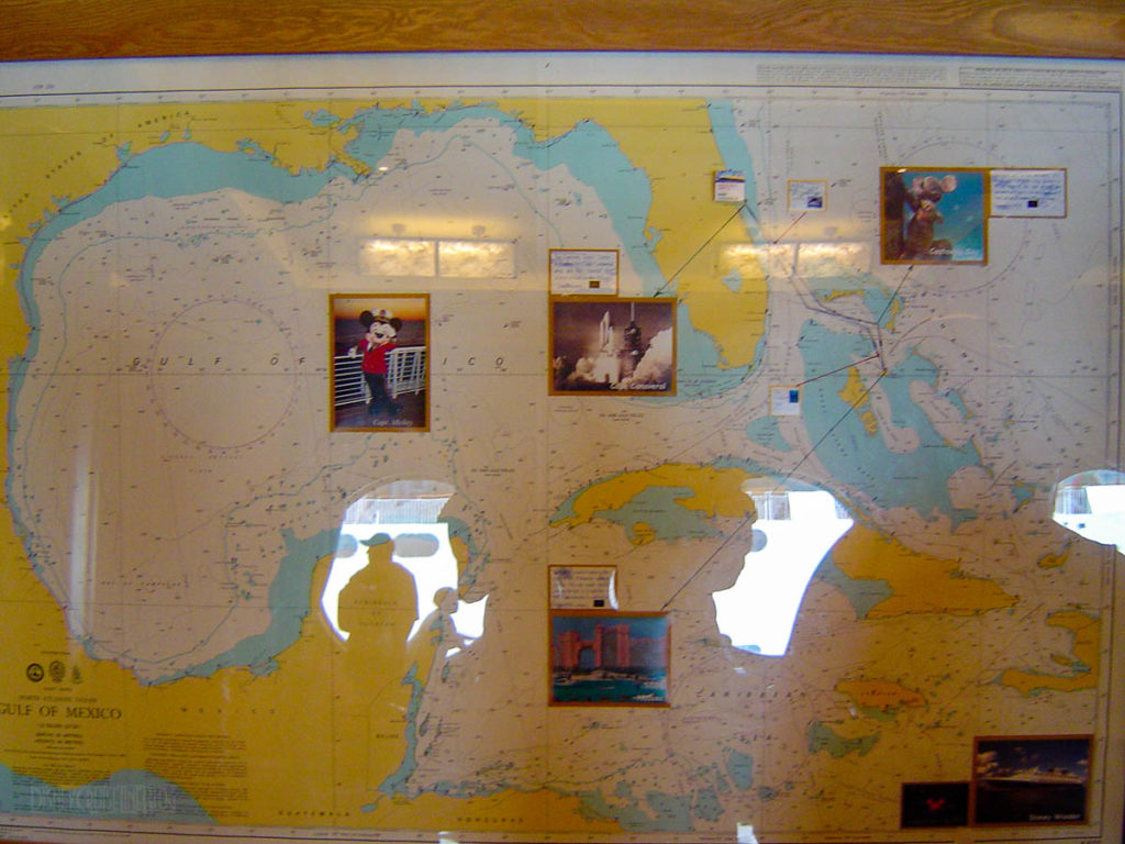 Disney Wonder Itinerary Map