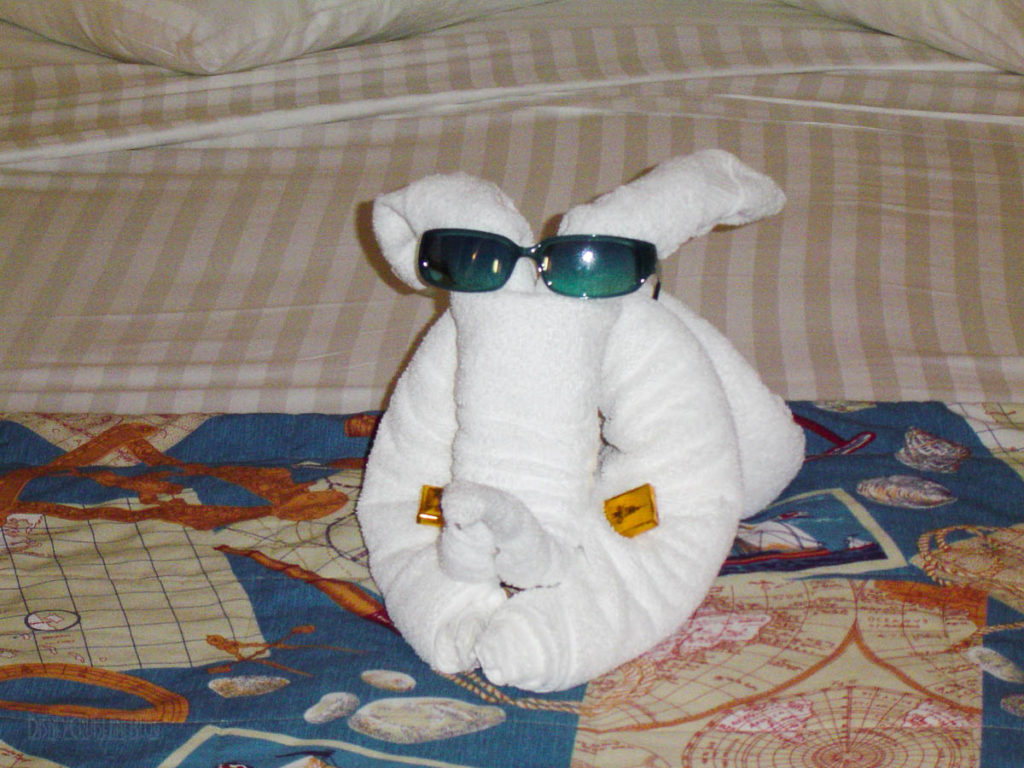 Disney Wonder Stateroom Towel Animal