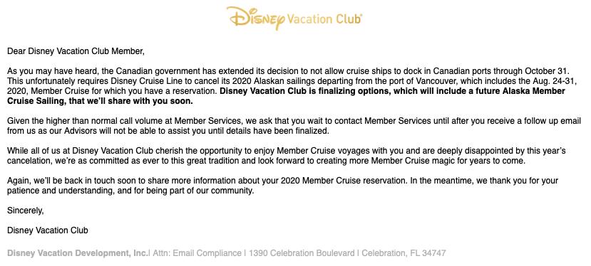2020 DVC Member Cruise Update 20200602