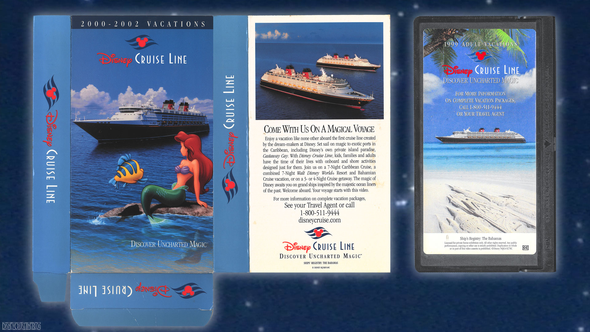 DCL 2000 2002 Cruise Vacations Promotional Video VHS