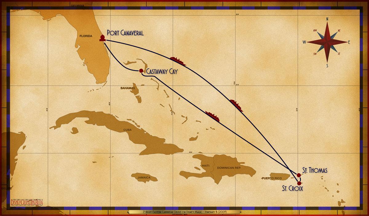 Map Magic 7 Night Eastern Caribbean PCV SEA SEA FRD STT SEA GOC